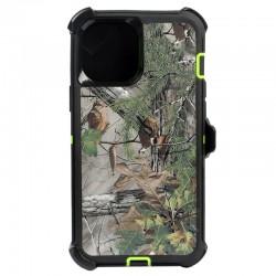 iPhone 12 Mini hybrid design case clip heavy duty holster cover - GREEN TREE