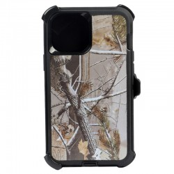 iPhone 12 Mini hybrid design case clip heavy duty holster cover - BLACK TREE