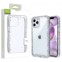 Airium Splash Hybrid Case for Apple iPhone 12 Pro Max (6.7) - Highly Transparent Clear / White