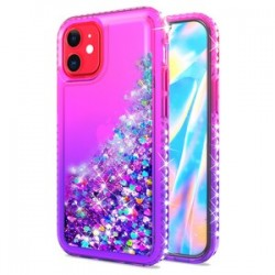 "Color Change Diamond Glitter Quick Sand for iPhone 12 (5.4"") - Pink/Purple"