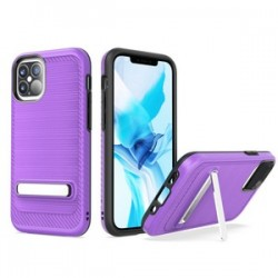 "Brushed with magnetic kickstand for iPhone 12 (5.4"") - Purple"