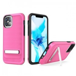 "Brushed with magnetic kickstand for iPhone 12 (5.4"") - Pink"