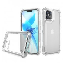 "Premium Strong 3 IN 1 Case for iPhone 12 (5.4"") - Clear"
