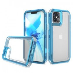 "Premium Strong 3 IN 1 Case for iPhone 12 (5.4"") - Blue"