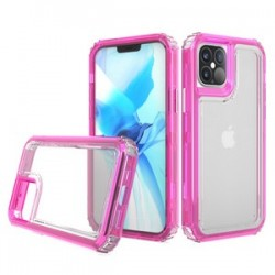 "Premium Strong 3 IN 1 Case for iPhone 12 (5.4"") - Pink"