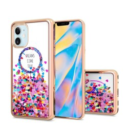 "Design Water Quicksand Glitter Chrome TPU - For Apple iPhone 12 (5.4"") - Dreams Come True"