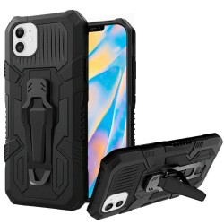 "Travel Kickstand w/ Metal Clip Hybrid for iPhone 12 (5.4"") - Black"