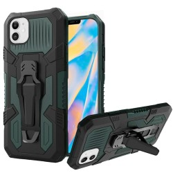 "Travel Kickstand w/ Metal Clip Hybrid for iPhone 12 (5.4"") - Midnight Green"