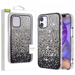 Crystals Sparks Case for APPLE iPhone 12 (5.4) - Black Gradient