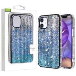 Crystals Sparks Case for APPLE iPhone 12 (5.4) - Blue Gradient