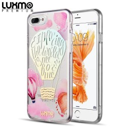 FOR IPHONE 8 / 7 / 6 PLUS THE EYE CANDY CAPSULE COLLECTION TRANSPARENT TPU W/ LASER MIRROR PRINTS - ROMANTIC EXPLORER