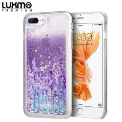 LUXMO PREMIUM WATERFALL SERIES FOR IPHONE 8 / 7 / 6 PLUS FUSION LIQUID SPARKLING QUICKSAND CASE - LOVE & LAVENDER