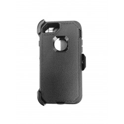 O++ER CASE WITH HOLSTER FOR IPHONE 6/7/8 - BLACK/BLACK