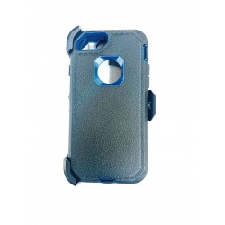 O++ER CASE WITH HOLSTER FOR IPHONE 6/7/8 - BLACK/BLUE