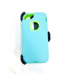 O++ER CASE WITH HOLSTER FOR IPHONE 6/7/8 - MINT/LIME