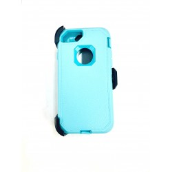 O++ER CASE WITH HOLSTER FOR IPHONE 6/7/8 MINT/LIGHT BLUE