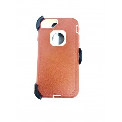 O++ER CASE WITH HOLSTER FOR IPHONE 6/7/8 - BROWN/WHITE