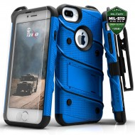 ziZo Bolt with Kickstand, Holster, Temperd Glass, Lanyard for APPLE IPHONE 7 PLUS PLUS/8 PLUS/6S PLUS/6 PLUS