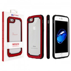 MYBAT Red Impacto Hybrid Protector Cover (with Package) for iPhone 7/8