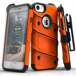 ziZo Bolt with Kickstand, Holster, Temperd Glass, Lanyard for APPLE IPHONE 7/8/6S/6