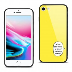 Hard Glass Design TPU Case In Yellow for iPhone 7/8/SE2