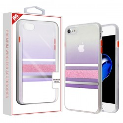 Glitter Fusion Protector Cover for APPLE iPhone 8/7 - White / Pink
