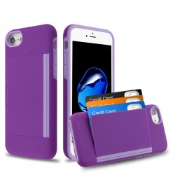 MYBAT Purple/Light Purple Poket Hybrid Protector Cover (with Back Film)(with Package)