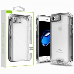 Hybrid Protector Cover for APPLE iPhone 8/7 - Transparent Smoke / Transparent Clear
