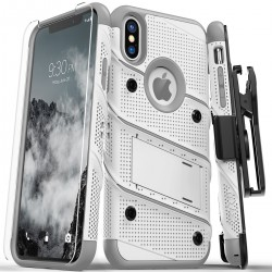 ziZo Bolt with Kickstand, Holster, Temperd Glass, Lanyard for APPLE iPhone X/XS