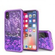 Liquid Quick Sands (Purple Hearts) for IPHONE X/XS