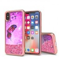 Liquid Quick Sands (Pink Butterfly) for IPHONE X/XS