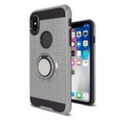 Brush Metal with Rings for IPHONE X/XS