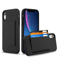MYBAT Black/Black Poket Hybrid Protector Cover (with Back Film)(with Package) for iPhone X/XS