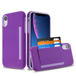 MYBAT Purple/Light Purple Poket Hybrid Protector Cover (with Back Film)(with Package) for iPhone XR