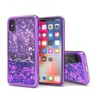 Liquid Quick Sands (Purple Hearts) for IPHONE XS MAX