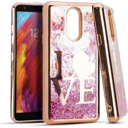 CHROME Glitter Motion Love ROSE GOLD For LG Aristo 4 Plus