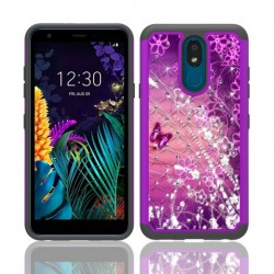Hybrid Dazzling w/ Design, #041 For LG Aristo 4 Plus