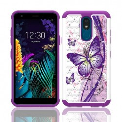 Hybrid Dazzling w/ Design, #064 For LG Aristo 4 Plus