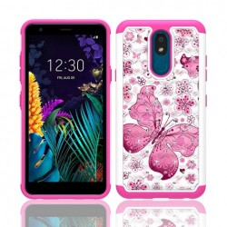 Hybrid Dazzling w/ Design, #065 For LG aristo 4 Plus