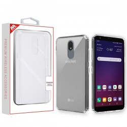 Highly Transparent Clear/Transparent Clear Sturdy Gummy Cover (with Package) For LG Aristo 4 Plus
