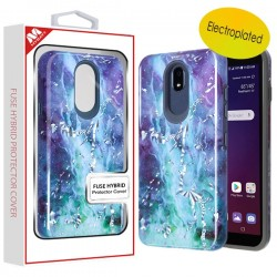 Electroplated Green Marbling/Iron Gray Fuse Hybrid Protector Cover (with Package) For LG Aristo 4 Plus