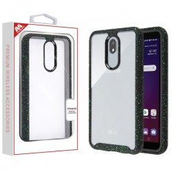 Highly Transparent Clear/Black Splash Hybrid Case (with Package) For LG Aristo 4 Plus
