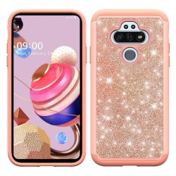 Glitter Bling Diamond Tough Hybrid for LG Aristo 5 - Rose Gold