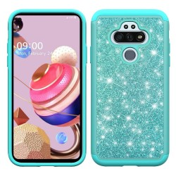 Glitter Bling Diamond Tough Hybrid for LG Aristo 5 - Teal