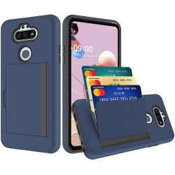 Multiple Card Holder Shockproof Hybrid for LG Aristo 5 - Dark Blue