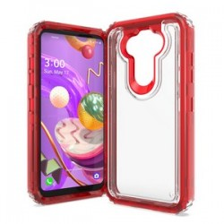 Premium Strong 3 IN 1 Case for LG Aristo 5 - Red