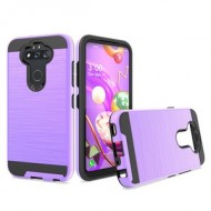 Hybrid Texture Brushed Metal case, For LG Aristo 5 - Purple
