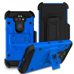 LG ARISTO 5/LG K31 PREMIUM HYBRID HOLSTER, BLUE