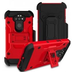 LG ARISTO 5/LG K31 PREMIUM HYBRID HOLSTER, RED