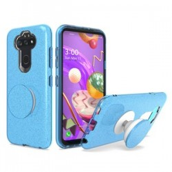 Bling Case with Pop Up for LG Aristo 5 Blue